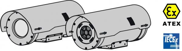 custodie antideflagranti in acciaio inox per telecamere